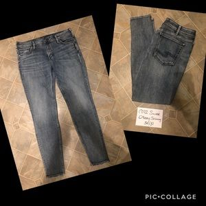 Silver Avery Skinny Jeans